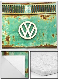 VW Retro Fleece Blanket.  #blanket #fleece #bed #bedroom #dorm #homedecor #homefurnishings #CamperVan #VW #Volkswagen #Bus #rusty #retro #ratty