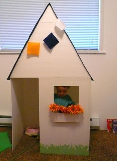 Cardboard box, definitely the best toy for my kids. With a few cutting, hot gluing and painting know how; I've done houses, fort, boats and cars... way too many times.