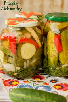 A Food, Food And Drink, Polish Recipes, Canning Recipes, Beets, Preserves, Celery, Pickles, Cucumber