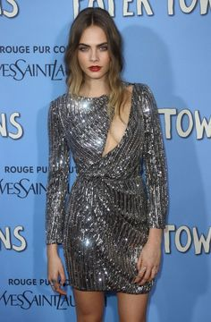 Cara Delevingne at the 'Paper Towns' Premiere in NYC