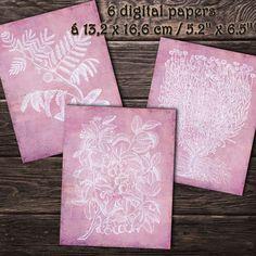 DIGITAL PAPERS Plants woodcuts 9. Printable digital | Etsy Paper Pocket, Paper Plants, Handwritten Letters, Printed Pages, Envelope Liners, Digital Papers, Collage Sheet, Junk Journal