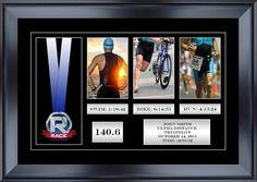 "22"" Wide By 14.5"" Tall Triathlon Race Medal Display Frame"