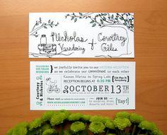 Vintage - Rustic Tandem Bike Wedding Invitation $2.50