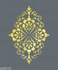 LARGE-WALL-DAMASK-STENCIL-PATTERN-FAUX-MURAL-DECOR-1015-Choose-Custom-Size