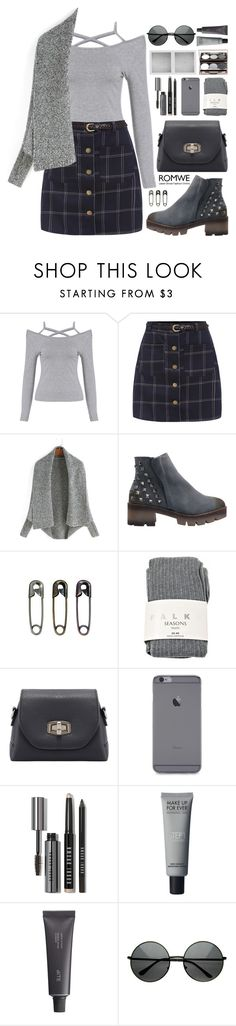 """Romwe 5"" by scarlett-morwenna ❤ liked on Polyvore featuring Falke, Bobbi Brown Cosmetics, Holga and Bite"