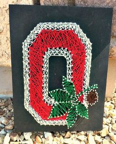 Ohio State University OSU string art Ohio State by ThejewelryCage