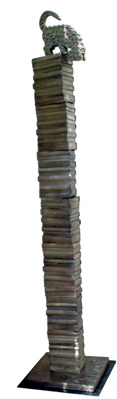2004- Ex libris, fusione in bronzo, cm 205x40x40