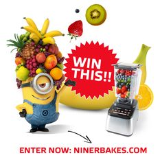 ENTER NOW to win a @blendtec Blender on my blog :-)  http://www.ninerbakes.com/2015/03/17/blendtec-giveaway-enter-to-win  #minion #approved