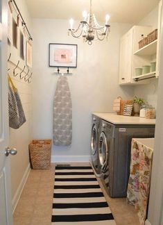 Rustic Laundry Rooms, Laundry Decor, Farmhouse Laundry Room, Laundry Room Organization, Laundry Room Design, Basement Laundry, Laundry Room Island, Ikea Laundry Room, Basement House