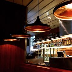 Pendant Lamps Beat Wide Black designed and produced by Tom Dixon