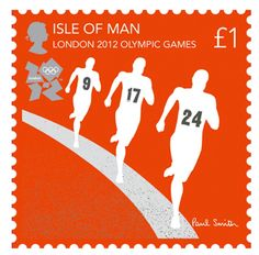 RW Awesomeness of the Day:  2012 Olympic stamps designed by British fashion designed Sir Paul Smith for the Isle of Man postal service