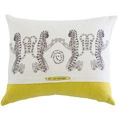 Scatter Cushion.  Wonder Boy range: Monkey Stripe Yellow.