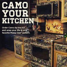 Oh my gosh! Please!!!!! Camo Kitchen!