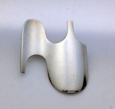 Georg Jensen Design Sterling silver BROOCH # 362 Designed by Ibe Dahlquist 1970's.