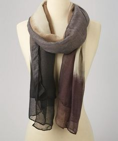 Loving this Gray & Blue Color Block Scarf on #zulily! #zulilyfinds