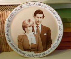 Princess Diana souvenir wedding plate 1981 by MAIDENSHOP on Etsy, $16.15