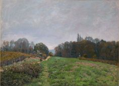 Landscape at Louveciennes - Alfred Sisley