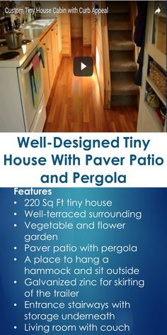 Well-Designed Tiny House With Paver Patio and Pergola | In This Guide, You Will Learn The Following; Patio Pergola Pictures, Pergola Patio Designs, Different Styles Of Pergolas, Patio Pergola Kits, Patio Pergola Plans, Patio Trellis Cover, Pergola Pictures Ideas, Images Of Pergolas On Decks, Etc.