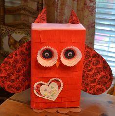 Owl Valentine Box | Magnolia Manor: Homemade Owl Valentines Box