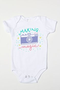 Camera draw - making Magic Baby Girl One-Piece