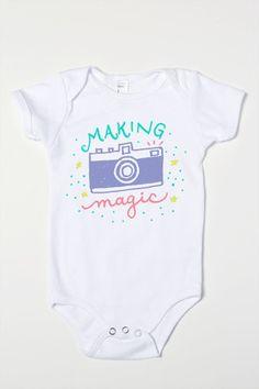 Camera draw - making Magic Baby Girl One-Piece