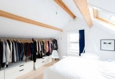 Dachschrägen im Schlafzimmer gestalten Mehr