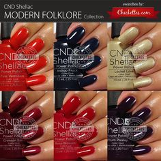 CND Shellac Modern Folklore Collection Swatches by Chickettes.com