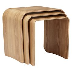 Buy House by John Lewis Bentwood Nest of 3 Tables, Ash Online at johnlewis.com