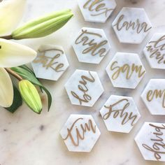 Marble Hexagon Place Cards  by @foxandsparrowdesign • 132 likes