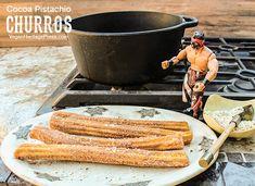 Cocoa-Pistachio Churros from Vegan Mexico by Jason Wyrick