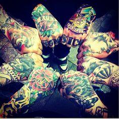 Hand Tattooed Men ,UNITE!