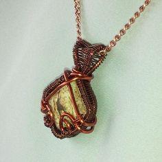 Green prehnite stone pendant wire wrapped stone necklace copper brown copper beige picture jasper square wire wrapped pendantwire weave pendantnecklace jewelrysemi precious cabachonincludes 21 chain aloadofball Choice Image