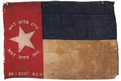 Flag of the 22nd Regiment, N.C. Volunteers (N.C. state flag pattern) The 22nd was originally the 12th NC Volunteers.  In September of 1861, the regt was numbered and designated the 22nd NC Troops. The 22nd's first major battle was during the Seven Days campaign at Mechanicsville. They would continue on through out the Peninsula Campaign, Sharpsburg, and Gettysburg. The veterans made their last march to Appomattox where they surrendered only 13 officers and 97 men.
