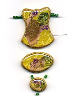 Unmounted Pendant of polymer clay by Montse on Etsy
