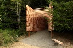 """AA Students """"Amplify the Forest"""" - Marking the Forest, now in its 2nd year, is a ten-day summer course by the Architectural Association. Set in a managed forest in central Oregon, it aims to engage students with the forest through thoughtful architectural intervention."""