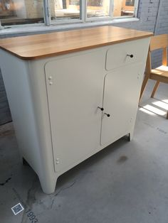 Steelsheet cabinet made by Piet Hein Eek as part of his bespoke furniture collection. Very simple and beautiful furniture design.