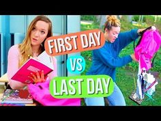 First Day of School vs Last Day of School! Alisha Marie - YouTube