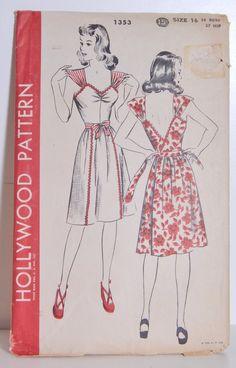 TENIR Mayellen Robinson Vintage motif couture par OffbeatAvenue