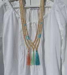 yoga by the sea silk tassel necklaces by beachcomberhome, $25.00