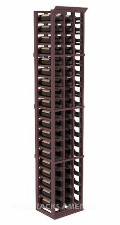 "Five Star Series: 3 Column 57 Bottle Standard Wine Cellar Rack in Pine with Burgundy Stain +Satin Finish by Wine Racks America®. $306.19. Money Back Guarantee + Lifetime Warranty. Bottle capacity: 57 bottles (750ml). Industry 1-1/2"" toe-kick keeps your wine off the floor.. 11/16"" wood thickness. Designed for 750ml wine bottles. Some assembly required .. Made from eco-friendly wood sources in sustainable forests. 3 ¾"" wide cubicles for bottle access.. Choose From either ..."