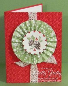 paper rosette on card
