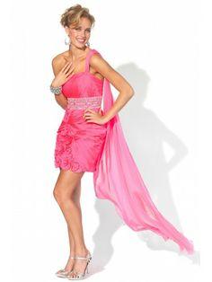 Chiffon One-shoulder Cocktail Prom Dress