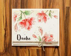 wieesmirgefaellt.de   Blumige Dankeskarten - Flower thank you cards   Mama Elephant Organic Blooms + Altenew Persian Motifs