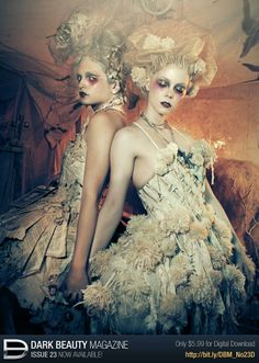 YES YES YESSS this is EVERYTHING!! Marie Antoinette dresses w sea anemones on Dark Beauty Magazine