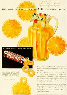 1932 Orange Lifesavers ad