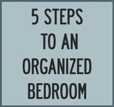 Holistic Homemaking: 5 Steps To An Organized Bedroom {An How To Keep It That Way}