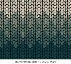 Seamless gradient knitting pattern Knitting Charts, Knitting Stitches, Knitting Designs, Knitting Projects, Stitch Patterns, Knitting Patterns, Fair Isle Pattern, Weaving Art, Knitted Hats