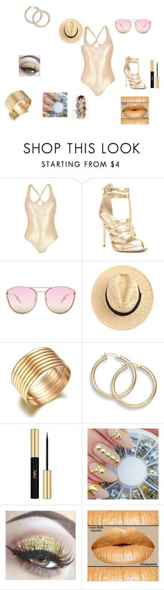 """""""feel like a million with gold."""" by myalove21 ❤ liked on Polyvore featuring George J. Love, Chinese Laundry, Quay and Yves Saint Laurent"""