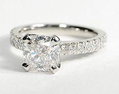 Nouveau Diamond Engagement Ring in Platinum #BlueNile #Engagement