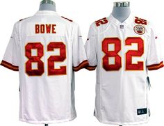 Jerseys NFL Online - Men's Kansas City Chiefs #82 Brian Parker White Road NFL Nike ...